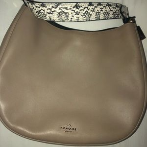 Coach Hobo leather Handbag w/ snakeskin detail